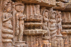 Ancient sandstone carvings Royalty Free Stock Photo