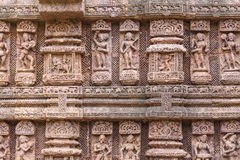 Ancient sandstone carvings Stock Images