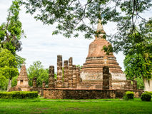 An ancient sandstone pagoda in Chana Songkhram Temple Royalty Free Stock Photography