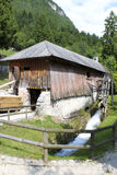 The ancient sawmill. An ancient sawmill, still working in the north of Italy using the power of water Royalty Free Stock Photography