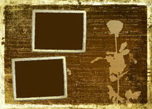 Ancient scratch abstract background with handwrite Stock Photo