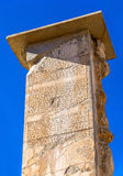 Ancient script on a column in Persepolis Stock Images