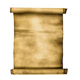 Ancient scroll. Isolated over a white background Royalty Free Stock Photos
