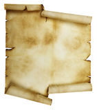 Ancient scroll. Isolated over a white background Royalty Free Stock Photo