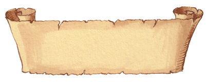 Ancient scroll. Hand drawn on textured paper Royalty Free Stock Photo