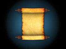 Ancient scroll Royalty Free Stock Photography