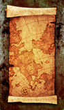 Ancient scroll map. On grunge wall Stock Photos
