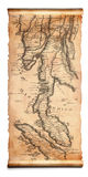 Ancient scroll map Stock Images