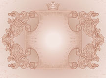 Ancient scroll ornate Stock Images