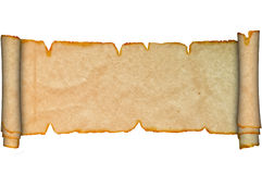 Ancient scroll of parchment. Royalty Free Stock Photography