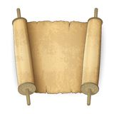 Ancient scrolls. Vector illustration of old scrolls with place for text Stock Image