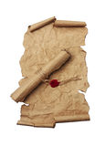 Ancient scrolls close-up Royalty Free Stock Images