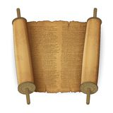 Ancient scrolls with text Royalty Free Stock Images
