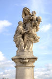Ancient sculpture on the Charles Bridge. Prague. Saint Anne - th Stock Images