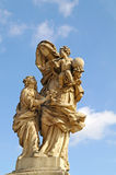 Ancient sculpture on the Charles Bridge. Prague. Saint Anne - th Stock Image