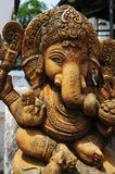 Ancient  sculpture of Indian god Stock Photography