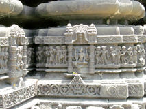 Ancient sculpture. Its photo of ancient sculpture on the wall of ambreshwar temple in India stock image