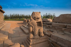 Ancient sculpture in Mahabalipuram, Tamil Nadu Stock Photo