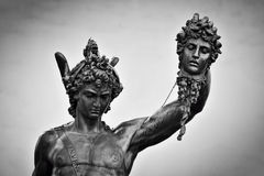 Ancient sculpture of Menelaus supporting the body of Patroclus. Florence, Italy Royalty Free Stock Photo