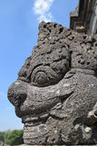 An ancient sculpture in Prambanan Temple Complex Stock Photo
