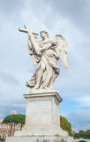 The ancient sculpture at the Saint Angelo bridge Royalty Free Stock Photo