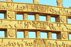 Ancient sculptured gate Stock Photography