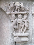 Ancient sculptures. Its photo of Ancient sculptures at aishwareshwar temple in India stock image