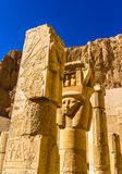 Ancient sculptures in the Mortuary temple of Hatshepsut Stock Photo
