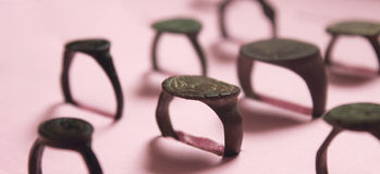 Ancient Scythian rings (archaeological) Stock Photography