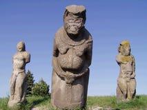 Ancient Scythian stone statue Stock Photos