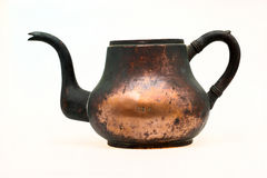 Ancient sea copper kettle Royalty Free Stock Photo