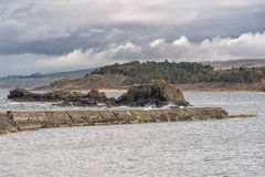 Ancient Sea Defences at Maidens Harbour Near Girvan Royalty Free Stock Photos