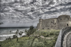 Ancient seacoast castle Stock Images