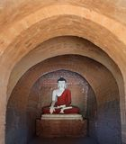Ancient seated Buddha statue Stock Photography