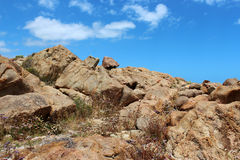 Ancient sedimentary rocks at Yallingup, Western Australia. Stock Photo