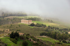 An ancient Segesta temple view Royalty Free Stock Photo