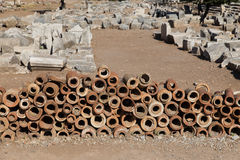 Ancient Sewerage Pipes Stock Image