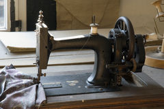 Ancient sewing-machine Royalty Free Stock Photo
