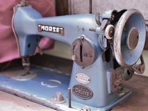 Ancient Sewing Machine stock image