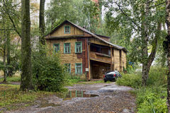 The Ancient shabby wooden house Stock Photos