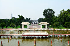 Ancient Shalimar Garden Lahore built by the Mughal emperor Shah Jahan. The Shalimar Gardens, sometimes written Shalamar Gardens, is a Pakistani garden and it was Royalty Free Stock Photo