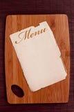 Ancient sheet menu Royalty Free Stock Photo