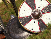 Ancient shield. Fine image of ancient shield medioeval background Stock Photos
