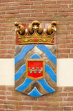 Ancient shield of former polder district Royalty Free Stock Photos