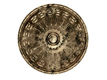 Ancient shield. Ancient legendary shield on white background royalty free stock photography