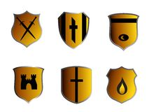 Ancient shields Royalty Free Stock Image