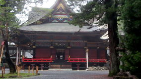 Ancient Shinto shrine Mitsumine in the fog. Japan. Chichibu. Saitama stock footage