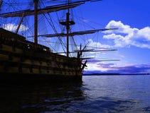 The ancient ship Royalty Free Stock Photo