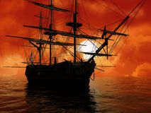 The ancient ship Stock Images