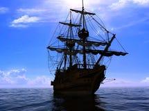 The ancient ship Stock Photo